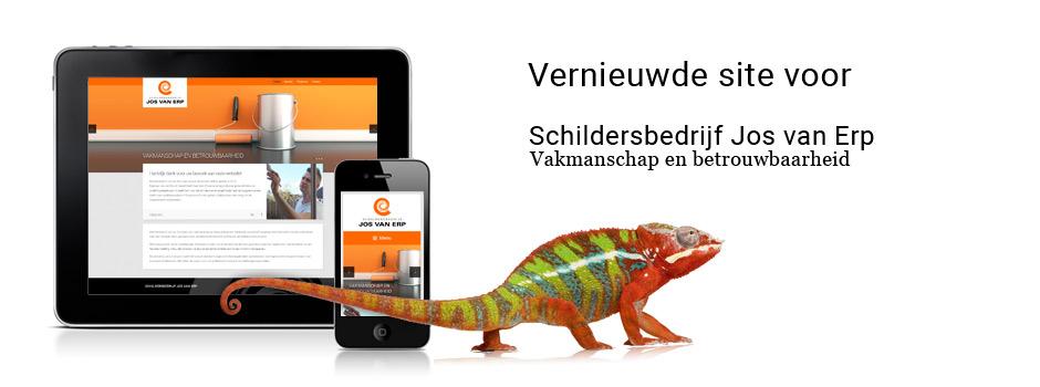 Vernieuwde site voor  Schildersbedrijf Jos van Erp